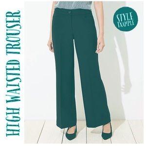 Loft Petites • High Waisted Trouser Pants 12P